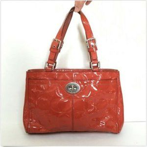 Coach Hamptons Patent Embossed Large Carryall